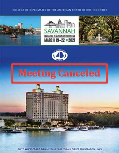2021 Annual Meeting Cancelled